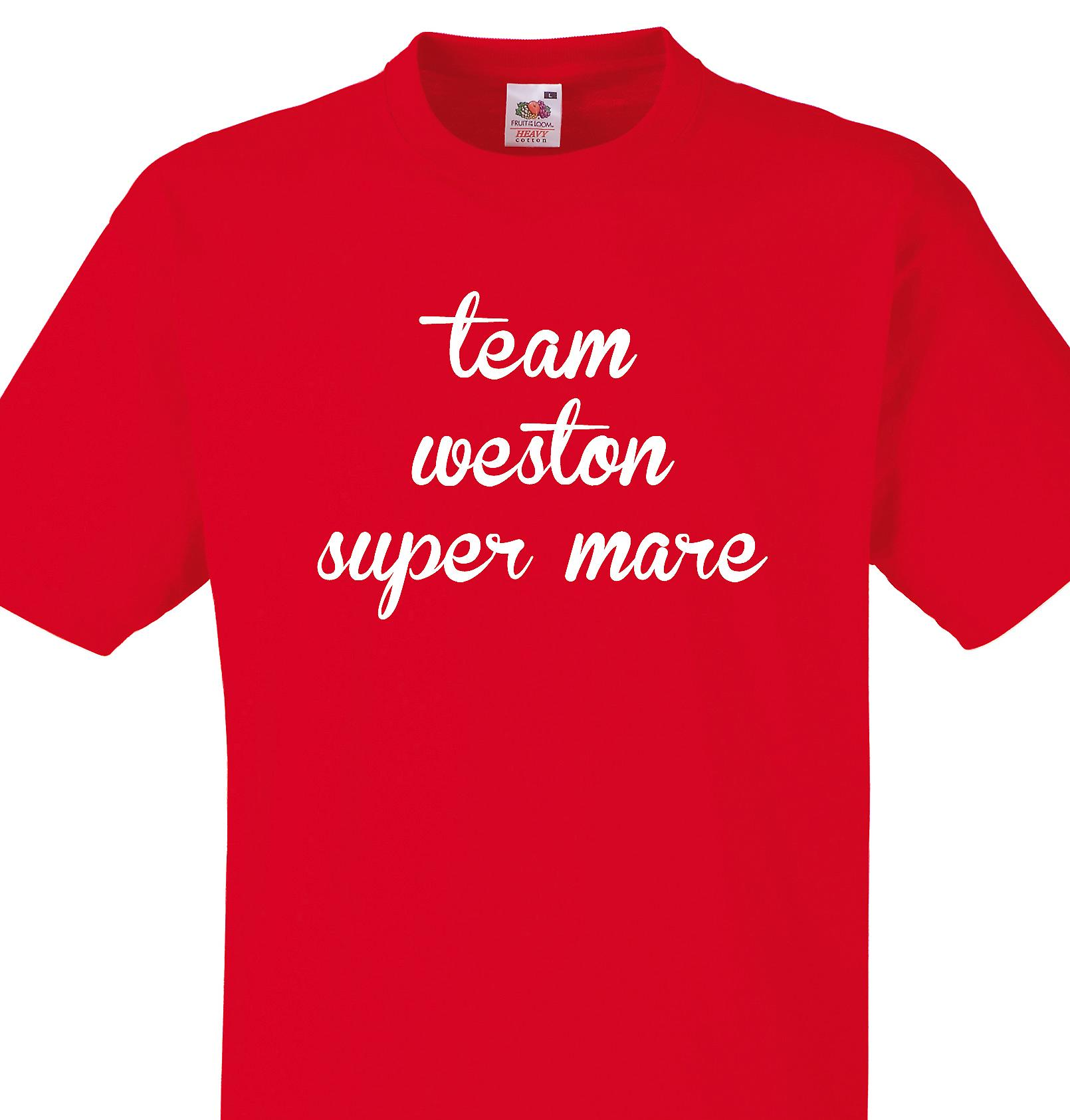Team Weston super mare Red T shirt