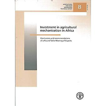 Investments in Agricultural Mechanization in Africa