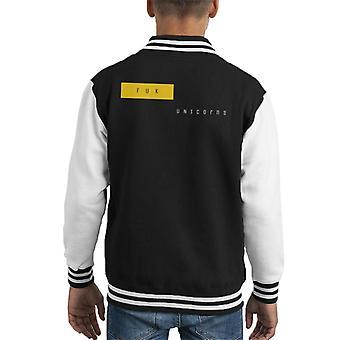 Fuk eenhoorns Kid's Varsity Jacket