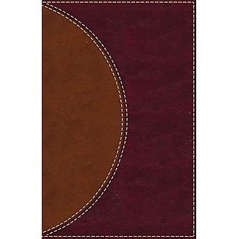 Amplifié lire la Bible, simili cuir, brun, indexé: Un Style de paragraphe Amplified Bible pour une expérience de lecture plus fluide