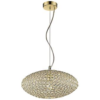Spring Lighting - Colchester Polished Brass Wide Pendant  BSDI040QC1QFOE