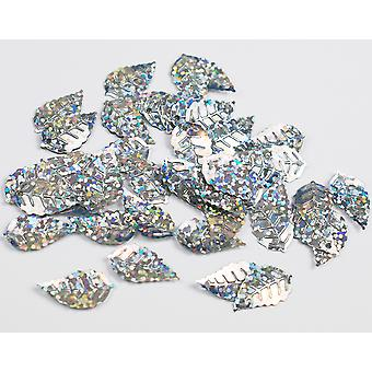 2.5g Silver Leaf Holographic Sequins with Holes for Pins | Sequin Craft Supplies