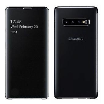 Samsung flip bolsillo visión clara permanente cobertura EF ZG970CBEGWW galaxia S10e G970F 5.8 pulgadas negro