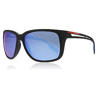 Prada Sport PS03TS 1BO2E0 Matte Black PS03TS Rectangle Sunglasses Lens Category 3 Lens Mirrored Size 59mm