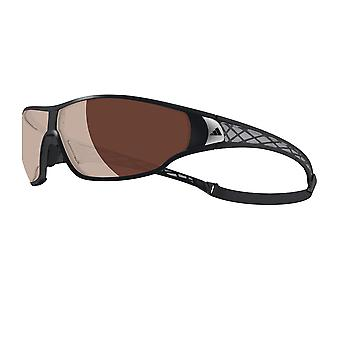 Adidas A189/00 6050 Black / Grey Tycane Pro L Wrap Sunglasses Polarised Golf, Running, Fishing, Driving Lens Category 3 Lens Mirrored Size 74mm