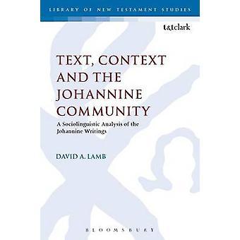 Contexto do texto e a comunidade de Johannine de cordeiro e David A.