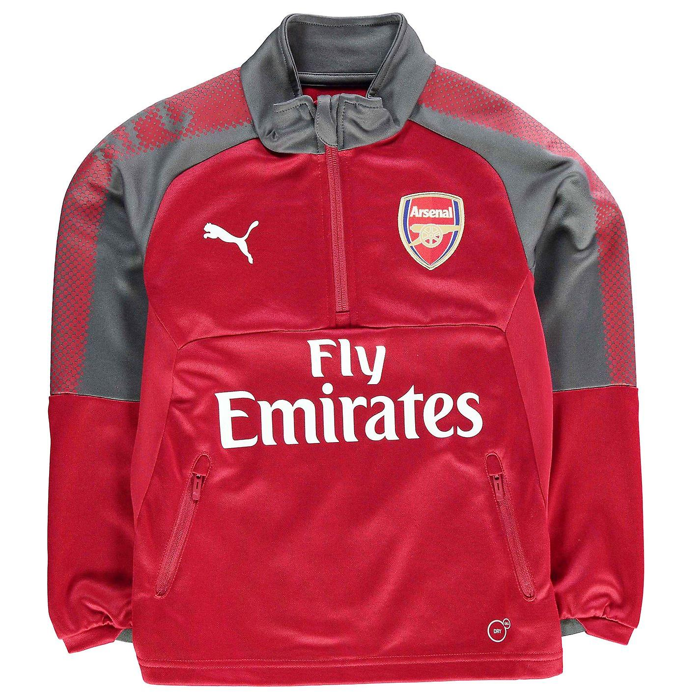 Puma Kids Arsenal Quarter Zip Training Top Junior Boys