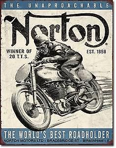 Norton Motorcycles World's Best metal sign