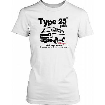 Typ 25 1988 VW Camper - 1.6td goed motor T damesshirt