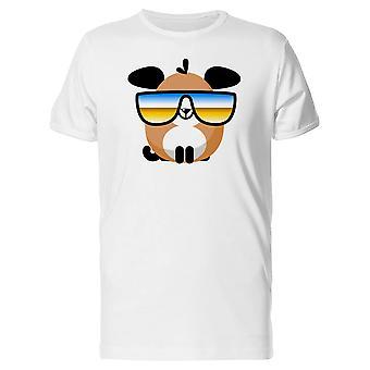Забавный щенок собака с очками Футболка мужская-изображений Shutterstock