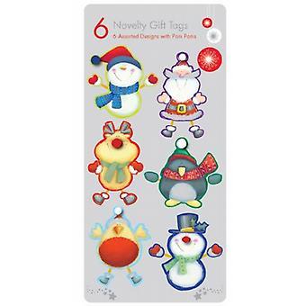 Søt nyhet julegave Tags Pom Poms og Springs dekorasjoner pakke av 36 nye - (TWLN)