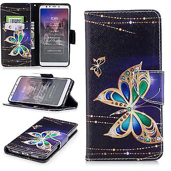 For Samsung Galaxy M20 6.3 inch faux leather bag wallet motif 32 protection sleeve case cover pouch new