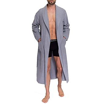British Boxers Ash Grey Herringbone Men's Robe