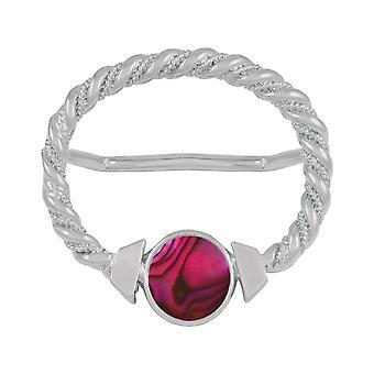 Evig samling Maxi Fuchsia rosa Paua skallet store sølv skjerf Ring