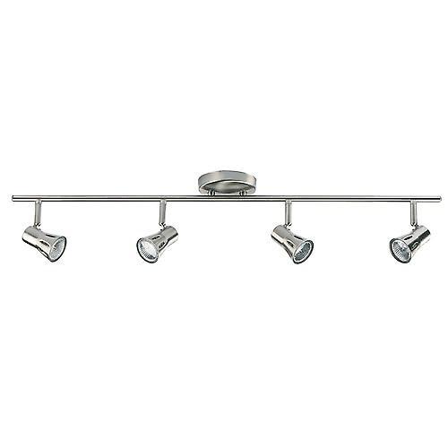 Endon 814-SC Modern 4 Light Gu10 Spotlight Bar In Satin Chrome