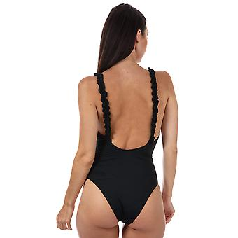 Womens Only Nicole Frill Swimsuit In Black