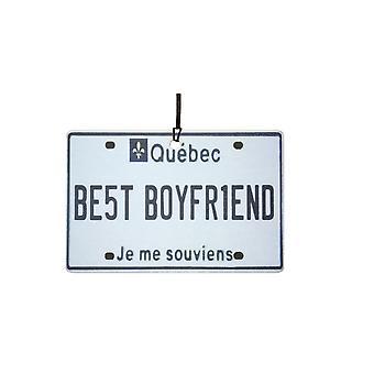 QUEBEC - Best Boyfriend License Plate Car Air Freshener