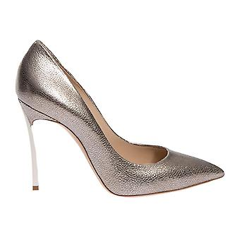 Casadei Gold Leather Pumps