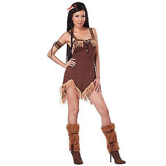 Costume de princesse indienne amérindienne Pocahontas femmes occidentales