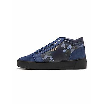 Android Homme  Android Homme Navy Camouflage Suede Propulsion Mid Sneaker