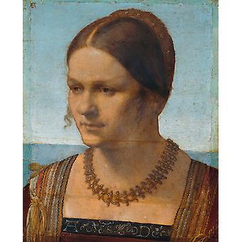 A Venetian lady,Albrecht Durer,50x40cm