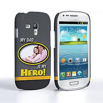 My Dad, My Hero Customised Photo Samsung Galaxy S3 Mini Case - Grey