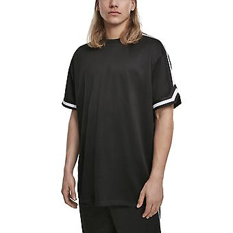 Urban Classics - Oversized Stripes Mesh Shirt black