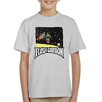 Flash Gordon And Zarkov Comic Montage Kid's T-Shirt