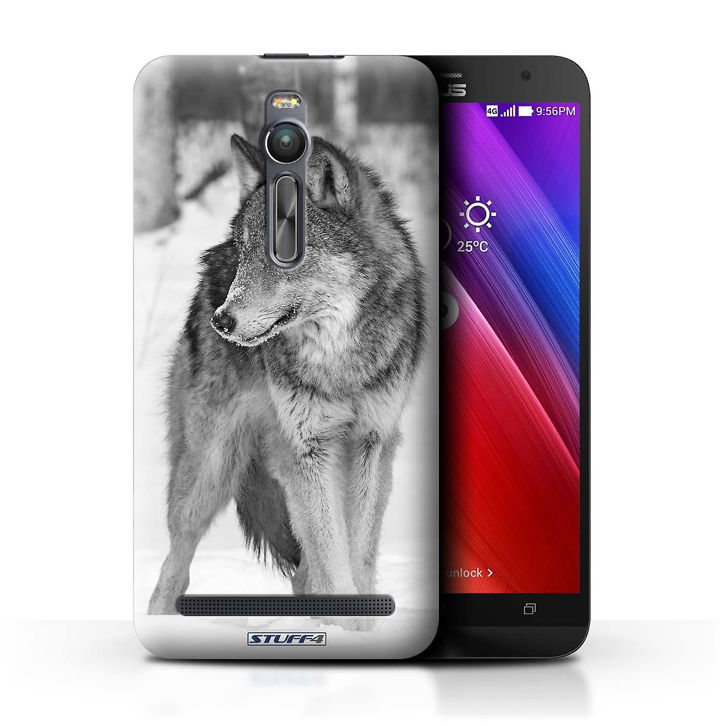 STUFF4 Case/Cover for Asus Zenfone 2 ZE551ML/Wolf/Mono Zoo Animals