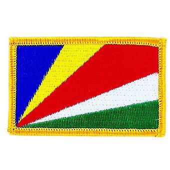Patch Ecusson Brode Drapeau Seychelles Flag Thermocollant Insigne Blason