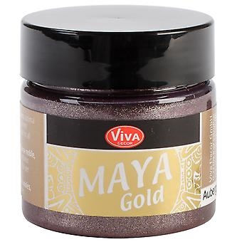 Viva Decor Maya Gold 50Ml Aubergine Maya 50234