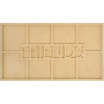 Beyond The Page Mdf Friends Word Frame with 8 Openings 19.75