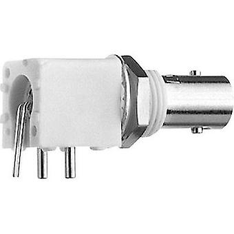 BNC connector Socket, horizontal mount 50 Ω Telegärtner J01001F0000 1 pc(s)