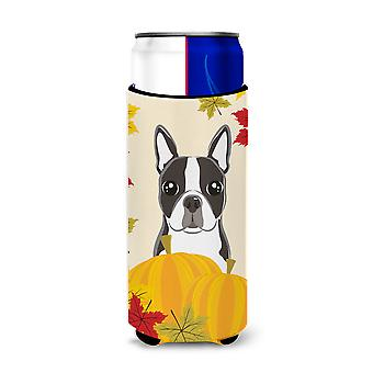 Boston Terrier Thanksgiving Michelob Ultra Koozies for slim cans BB2009MUK