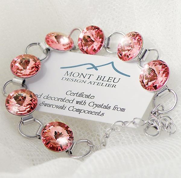 Pink crystals bracelet BMB 2.1