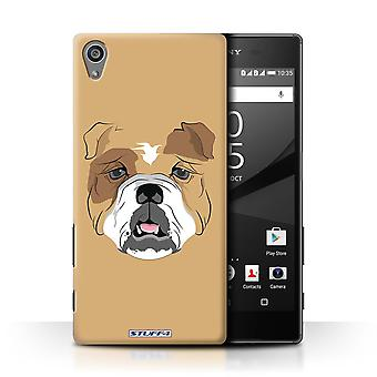 STUFF4 Case/Cover for Sony Xperia Z5/5.2/Dog/Bulldog/Animal Faces