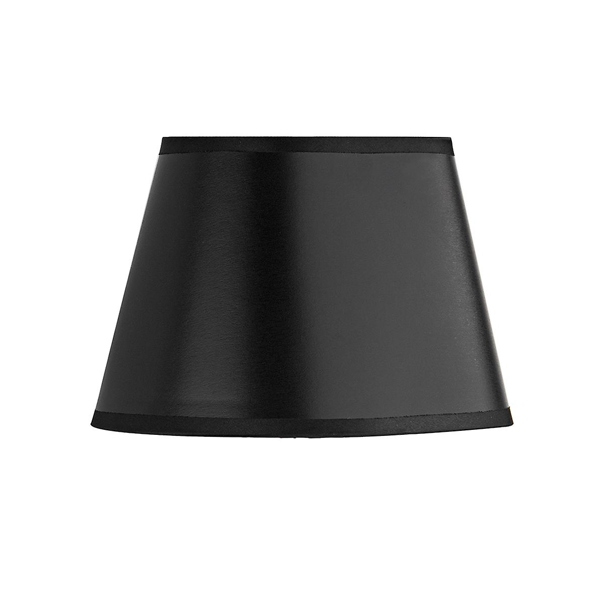 Dar LEX2622 Lexington Small Fabric Shade With A Black And Gold Finish