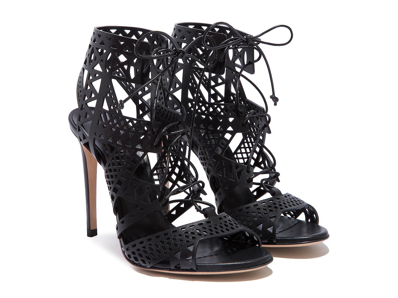Casadei evening black high stiletto heels sandals