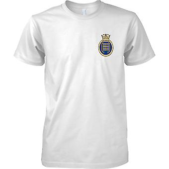 HMS Westminster - actual buque de la Armada Real t-shirt color
