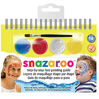 Snazaroo Step-By-Step Face Painting Kit-Sea Life 11960-12