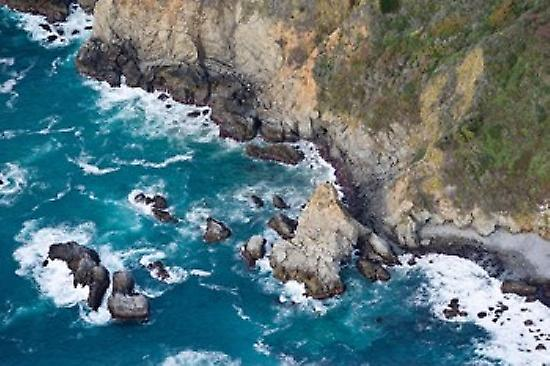 Aerial view of a coast Big Sur Monterey County California USA Poster Print by Panoramic Images (36 x 24)