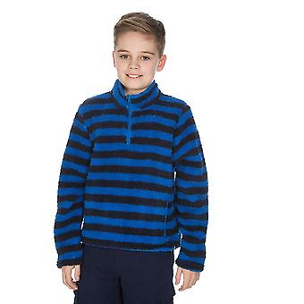 Ny Peter storm barn Teddy Half zip gåing fleece blå