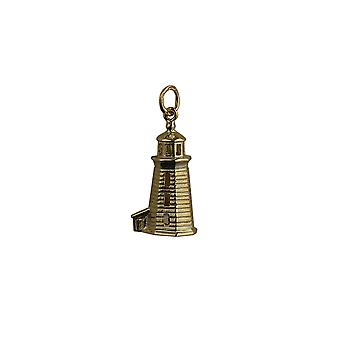 9ct Gold 22x13mm Lighthouse Pendant or Charm