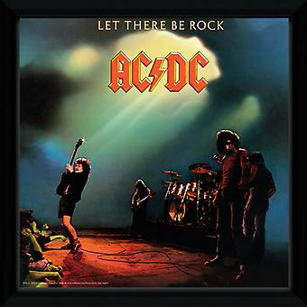 Ac/Dc Let There Be Rock indrammet Album Print