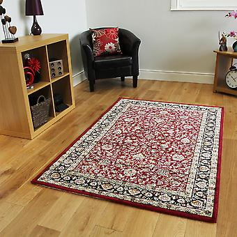 Red Silk Style Traditional Rug Belgrave