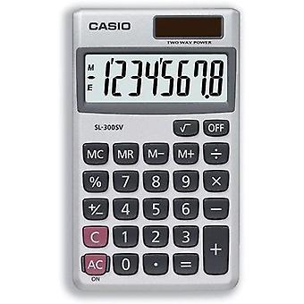 Casio lommeregner håndholdte batteri solenergi 8 cifret 3 centrale hukommelse tegnebog