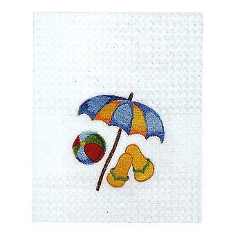 Beach Umbrella Flip Flops Beach Ball Kitchen Towel