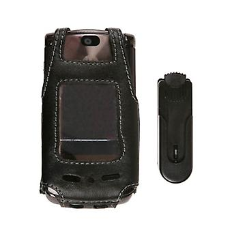 Swivel Clip Leather Case for Motorola RAZR2 V9 V9m
