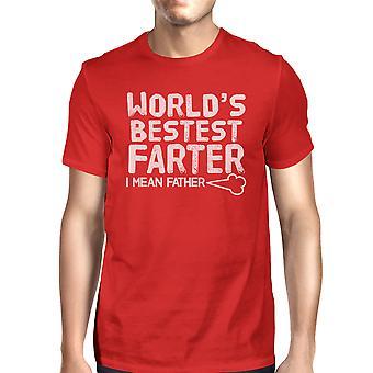 World's Bestest Farter Mens Humorous Design Short Sleeve Cotton Top