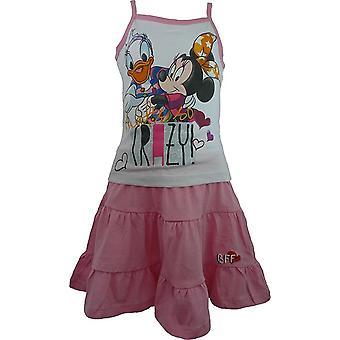 Piger Disney Minnie Mouse & Daisy ærmeløs T-shirt og nederdel sæt